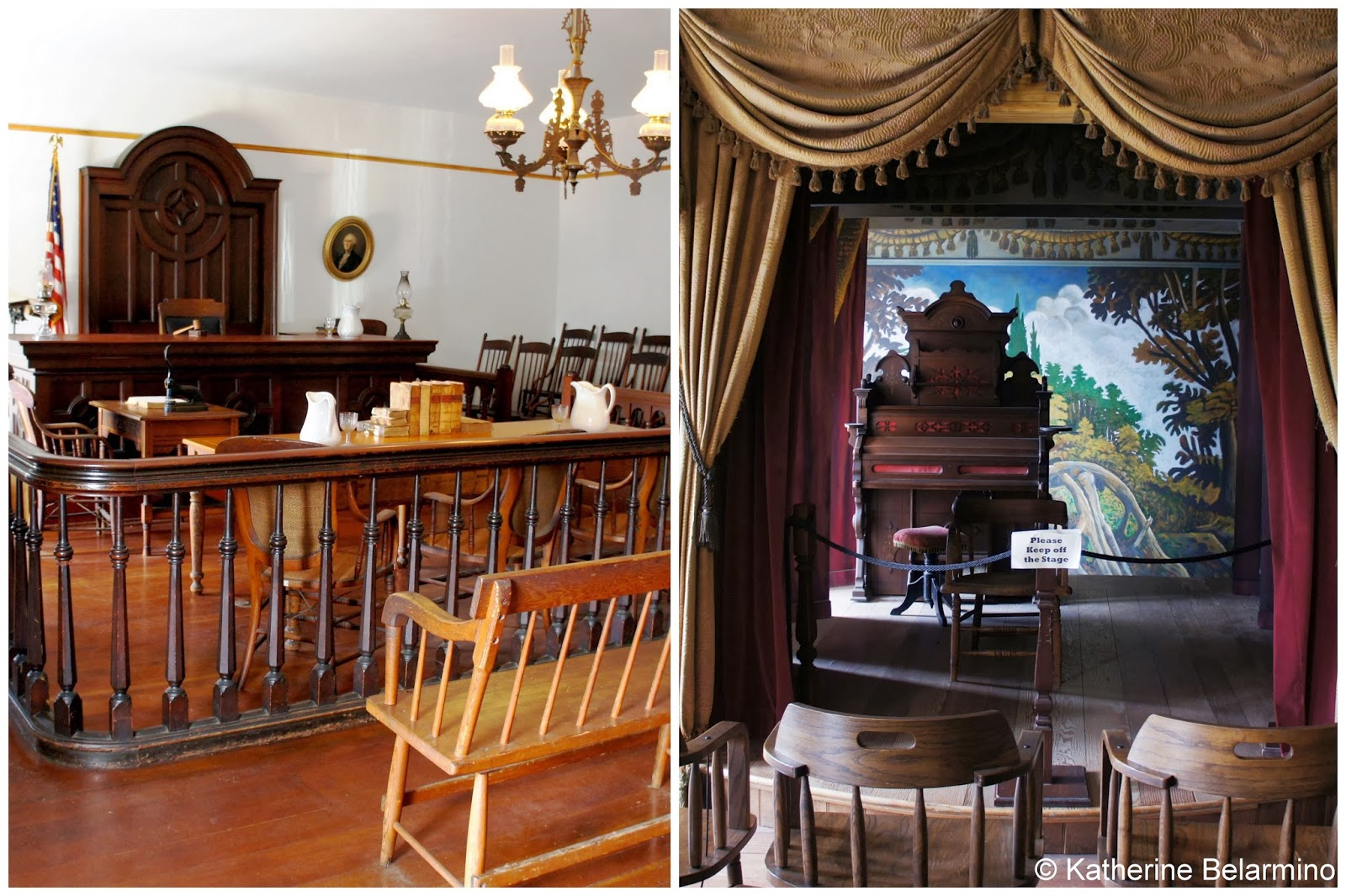 Courtroom and Theater of Whaley House San Diego California