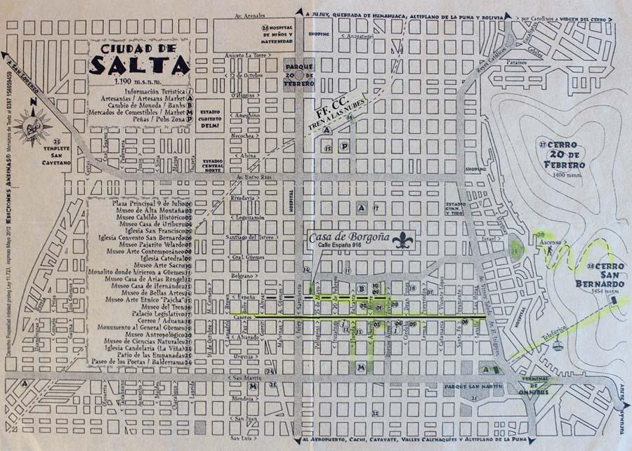 Mapa de Salta, Argentina