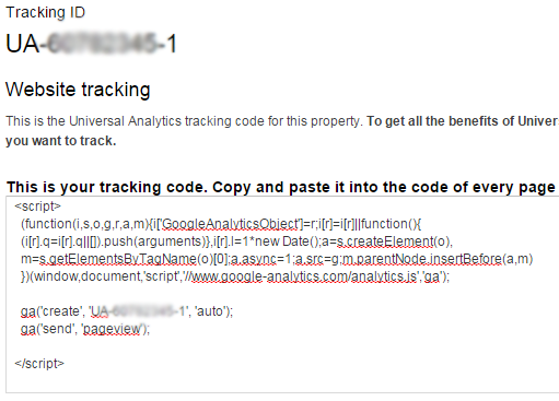 tracking code