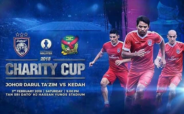 Live Streaming JDT vs Kedah 3 Februari 2018 Piala Sumbangsih