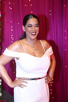 Mumaith Khan Spicy pics in Deep Neck White Gown at Zee Telugu Apsara Awards 2017 18.JPG