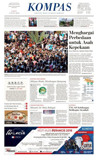 Kompas Edisi Sabtu 9 Juli 2016
