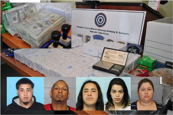 Desmantelan narco banda dirigida por dominicanos en Massachusetts y le confiscan 1 kilo de heroína y miles en efectivo