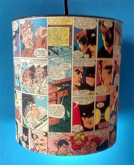 luminária com lata, luminária, faça você mesmo, a casa eh sua, diy, reciclagem, upcycling, luminária geek