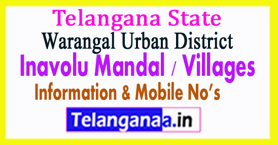 Inavolu Mandal Villages in Warangal Urban District Telangana
