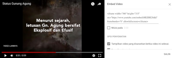 Cara Pasang Youtube Di Blogspot