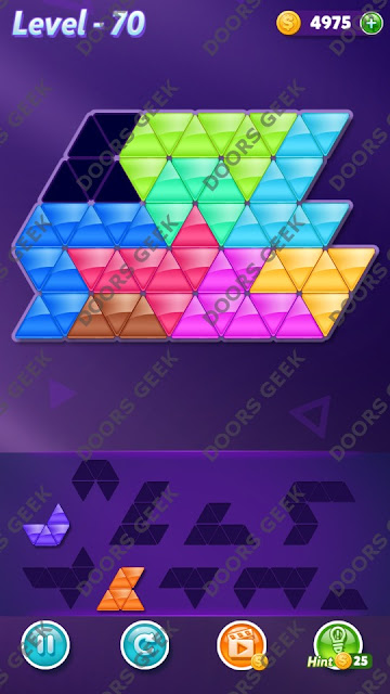 Block! Triangle Puzzle Proficient Level 70 Solution, Cheats, Walkthrough for Android, iPhone, iPad and iPod