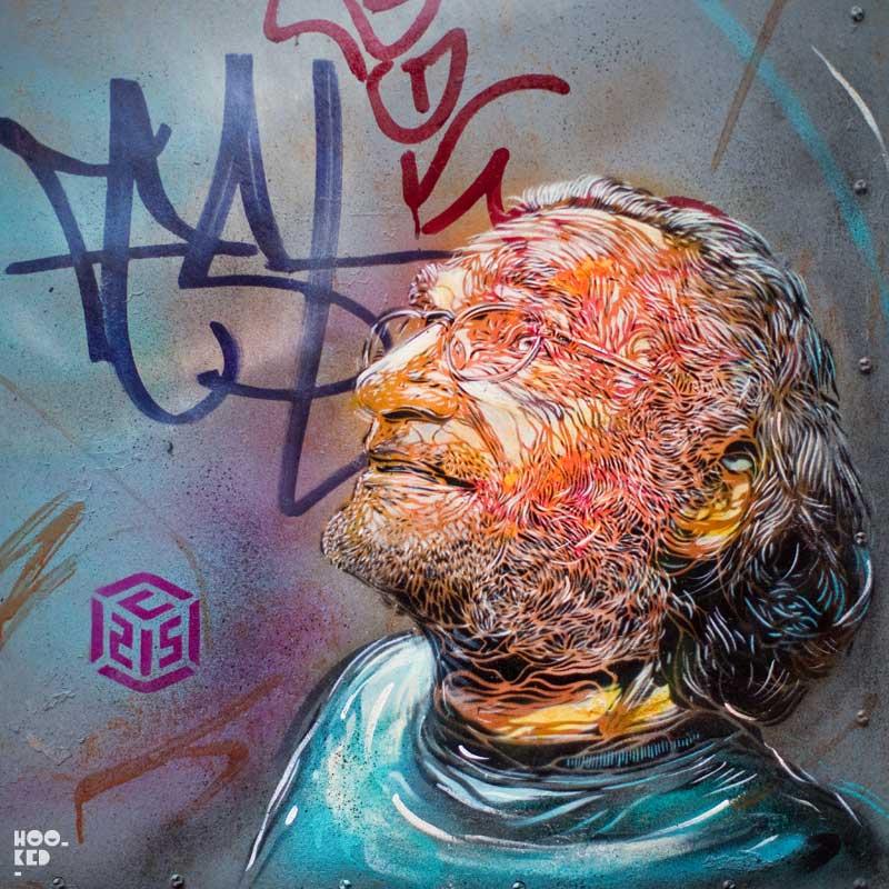 French Street artist C215's stencil work in Shoreditch, London