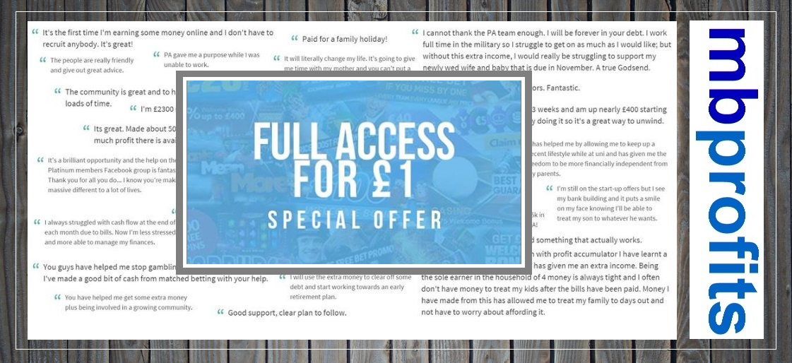 Your Special £1 Offer!