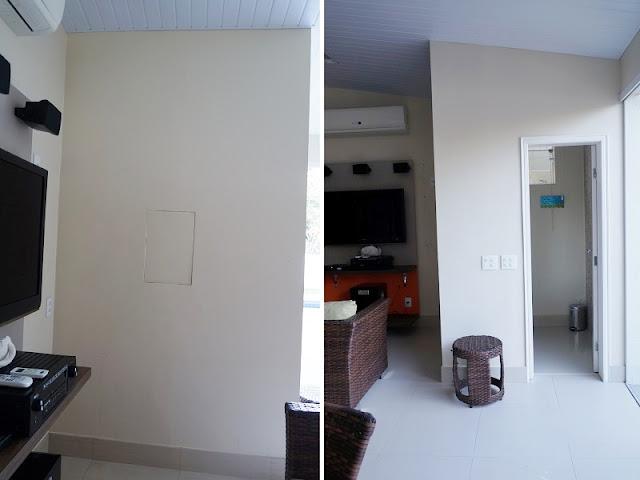 fotos das paredes do cliente antes dos lambes lambes