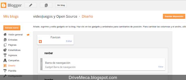 DriveMeca eliminando fecha y hora de artículos de Blogger paso a paso