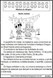 Texto informativo sobre festa junina