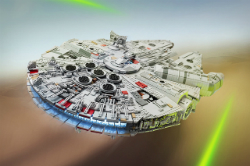 This Millenium Falcon took 1 year to build with 7,500 Lego bricks.