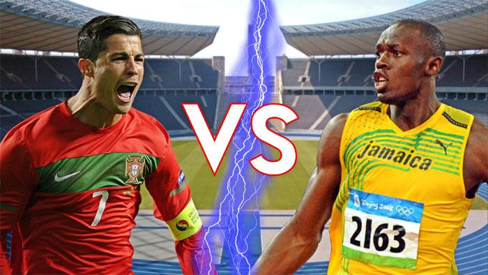 Cristiano Ronaldo vs Usain Bolt 100m race