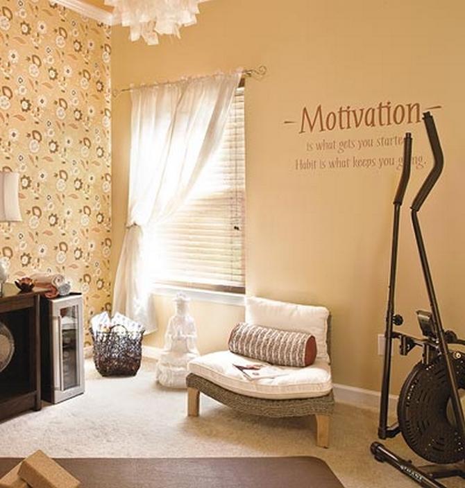 Home Gym Room Design Ideas: Rachel Olsen: Home Gym Workout Spaces