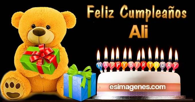 Feliz Cumpleaños Ali