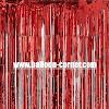 Red Foil Curtain / Tirai Foil Merah