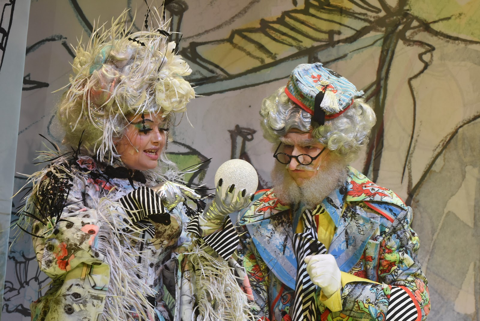 Natasha Haws and Cal Halbert in The Customs House pantomime