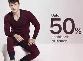 Thermal Wears & Inner Wear upto 50% Cashback@ Paytm