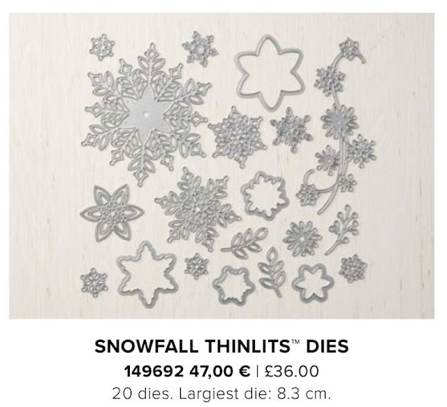 Snowfall Thinlits from Stampin Up