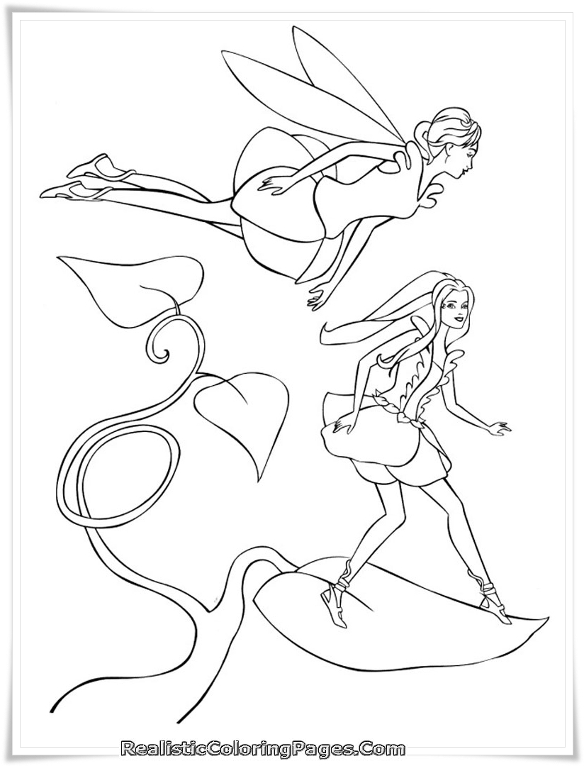 Barbie Fairytopia Printable Coloring