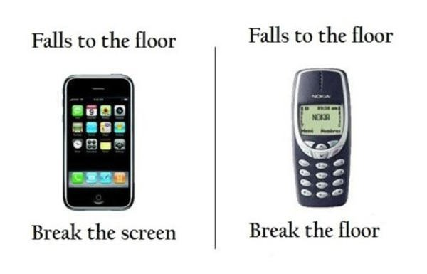 Iphone vs  Old Nokia 3310
