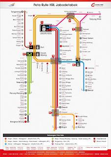 peta rute KRL