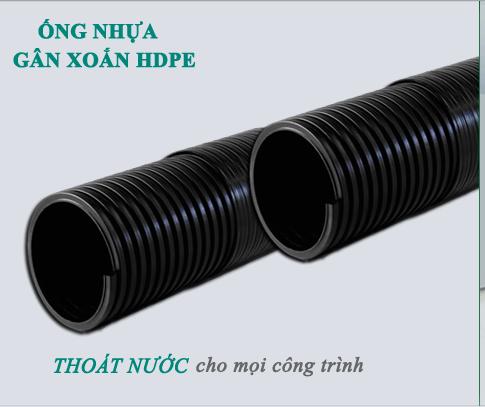 ống nhựa hdpe gân xoắn thoát nước thải