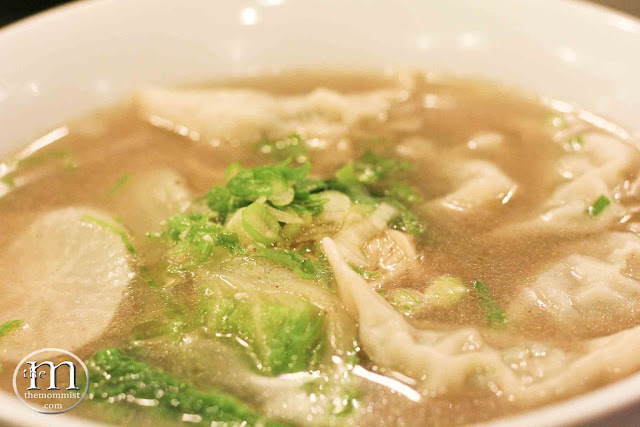Pork and Chive Dumpling Noodle Soup