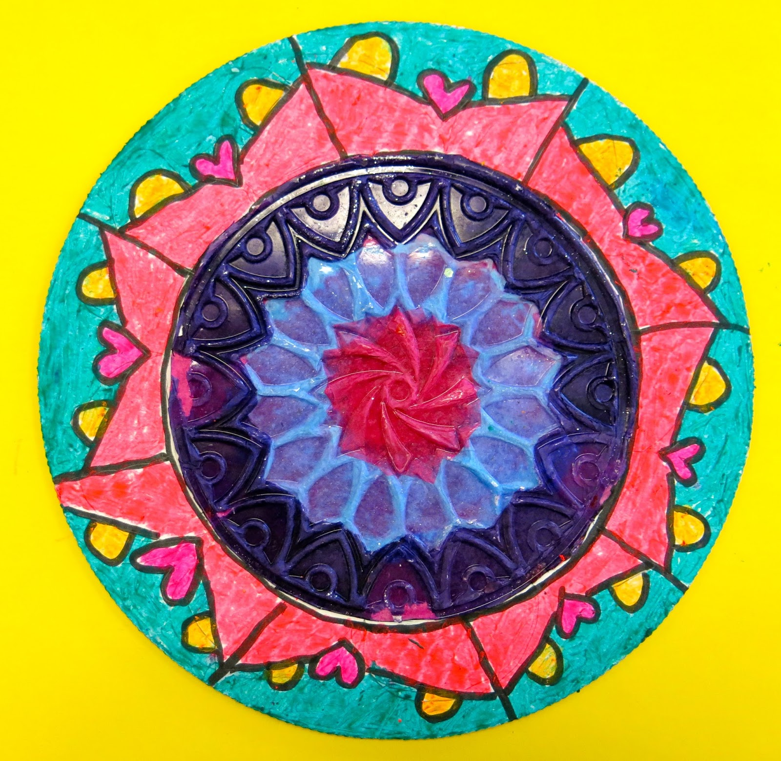 Cassie Stephens: In the Art Room: Dot Day Radial Designs by 3rd Grade