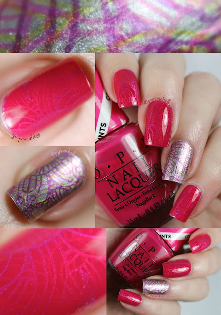 OPI Color Paints •Look Two: Layered Stamping•