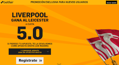 betfair Liverpool gana Leicester boxing day supercuota 5 Premier League 26 diciembre