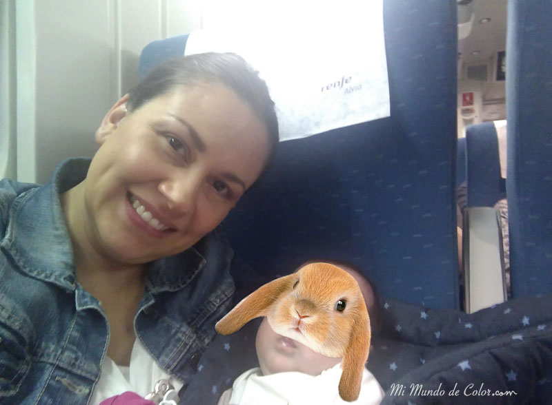 travel alone with a baby on the train