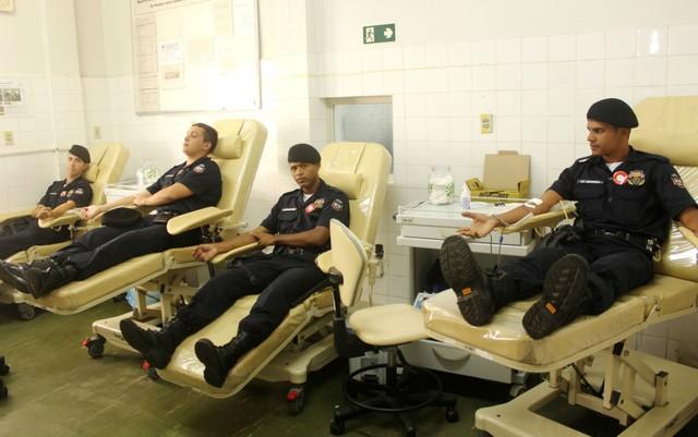 Guarda Municipal de São João del Rei (MG) incentiva doação de sangue