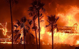 The fires racing through southern California have led to the evacuation of more than 260,000 people, burned over 83,000 acres and destroyed more than 170 homes, as well as damaged several Jewish institutions.