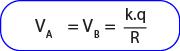 Rumus potensial listrik di dalam dan di permukaan bola konduktor bermuatan