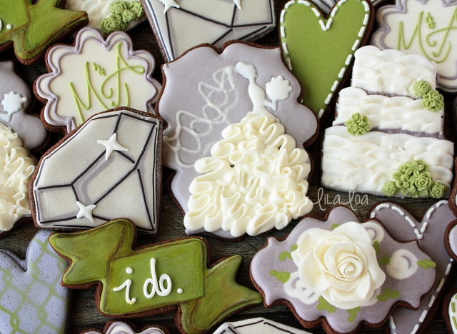 Make wedding dress sugar cookies with ruffles!