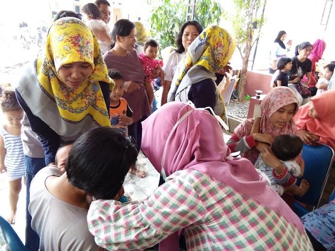 100 Bayi dan Balita di Permata Mansion Peroleh Imunisasi MR