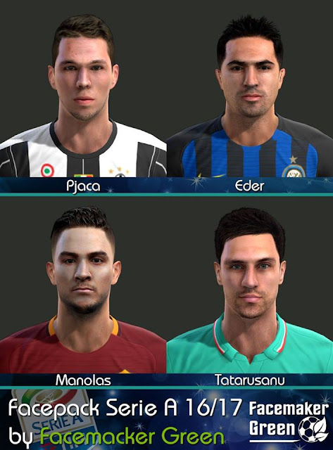 PES 213 Facepack Serie A 16/17 by Facemaker Green