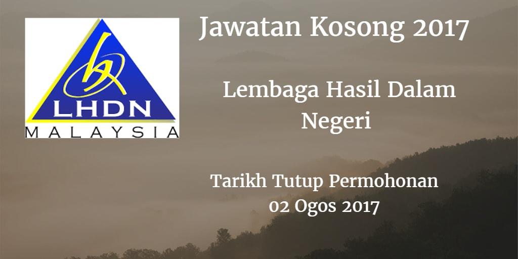 Jawatan Kosong LDHN 02 Ogos 2017