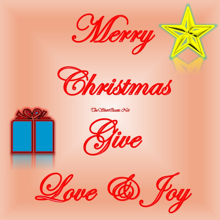 Merry Christmas Give Love and Joy