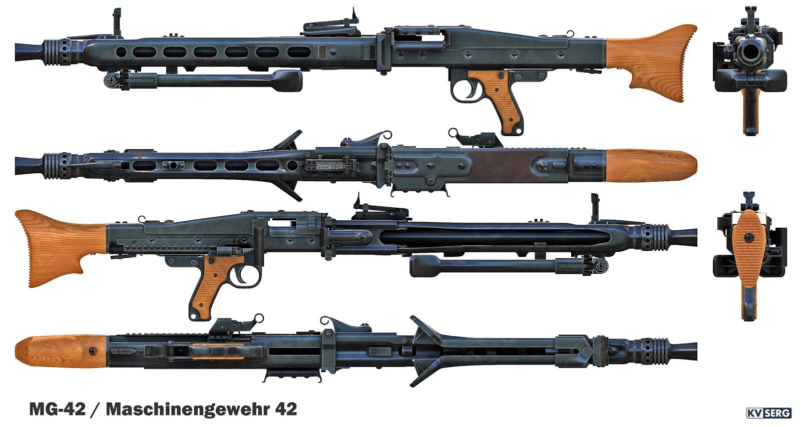 Maschinegewehr 42 Wallpaper: KVSERG ART: MG-42 / Maschinengewehr 42