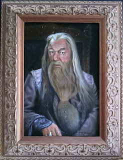 Completed oil painting of Albus Dumbledore from Harry Potter - Robin Springett
