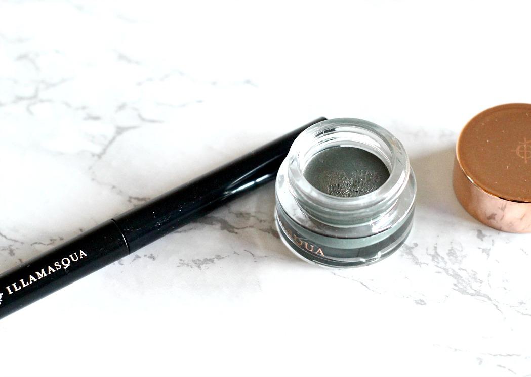 illamasqua cream shadow in bibelot and illamsqua precision liner in wisdom