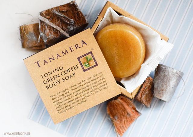 tanamera körperseife mit grünem Kaffee