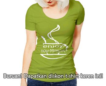 Buruan! Dapatkan diskon t-shirt keren ini!