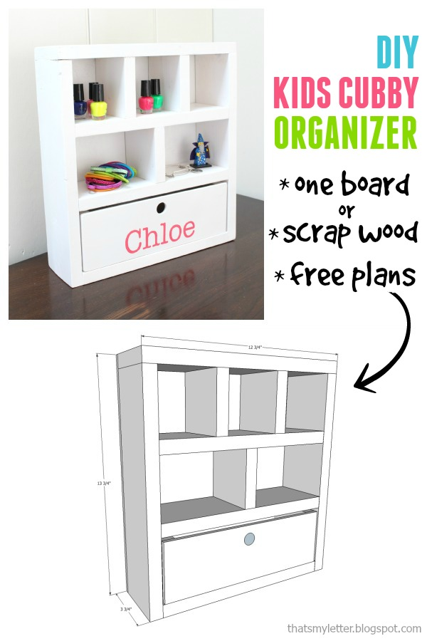 diy kids cubby organizer free plans