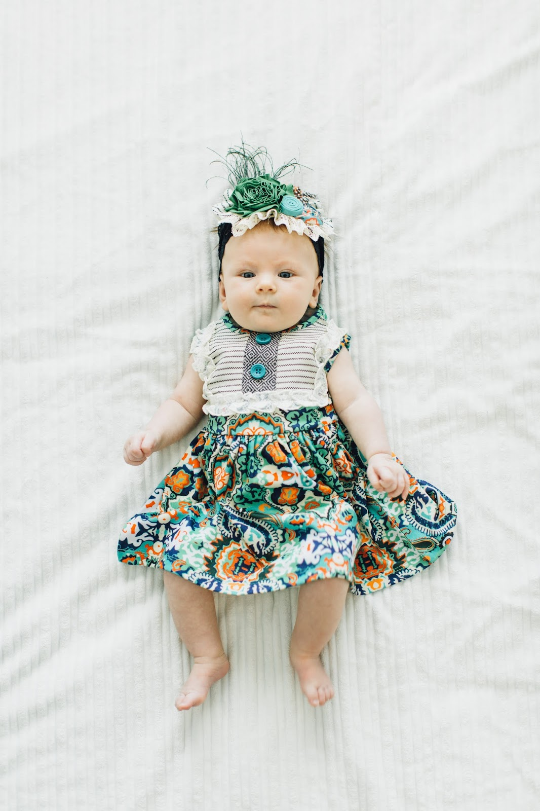 Baby Spring Dress, Colorful Baby Dress, Cute Baby