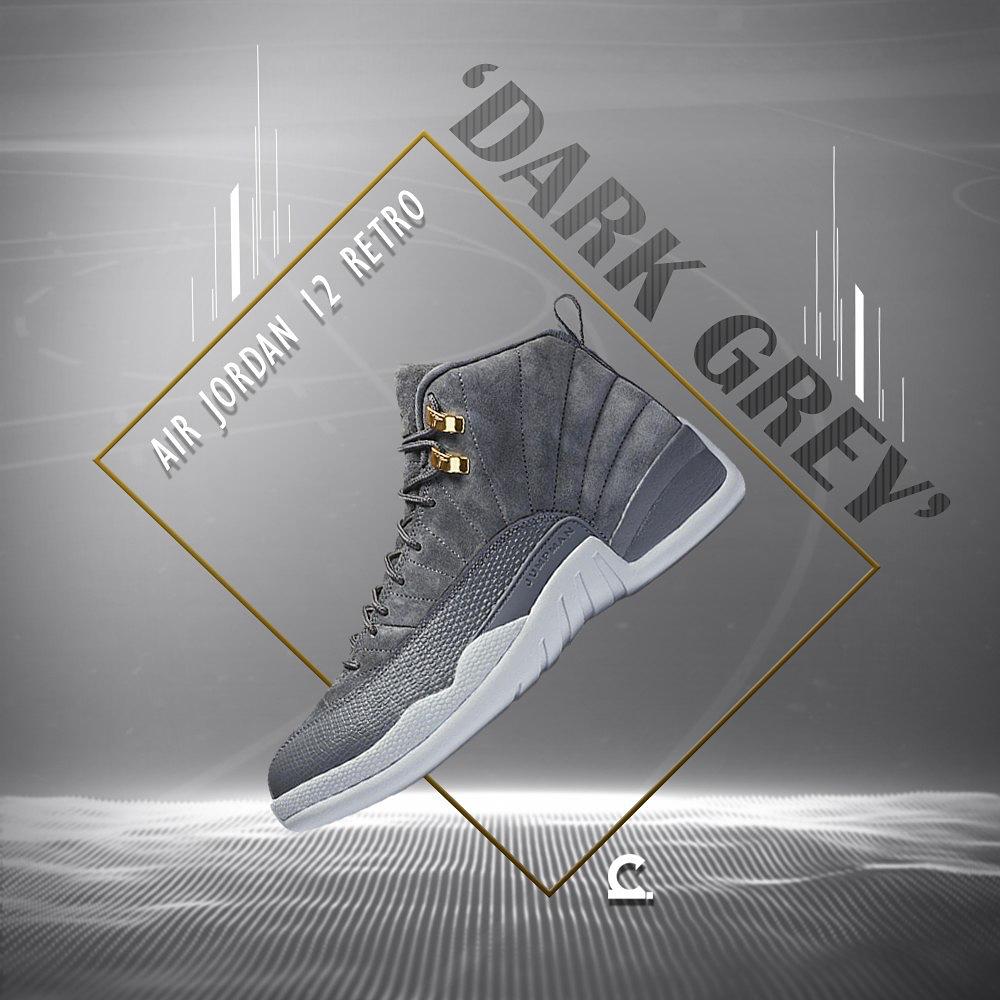 new product d7e80 d966a Air Jordan 12 retro Dark Grey available at Capital