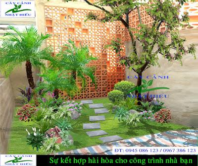 Thiết kế sân vườn nhà phố đẹp phong thủy